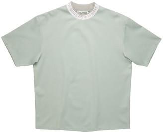 Acne Studios Crew-neck Logo Trim T-shirt Cold Grey