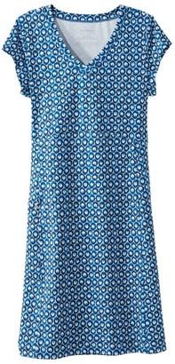 L.L. Bean L.L.Bean Women's Short-Sleeve Fitness Dress, Print