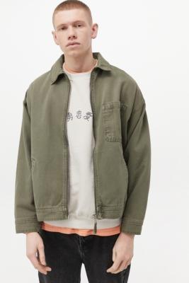 BDG Sage Zip-Through Work Jacket - Green S at Urban Outfitters