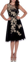 Decode 1.8 Metallic Flower Illusion Dress