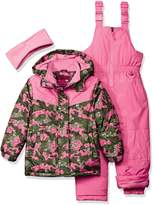Pink Platinum Little Girls' Camo Heart Print Better Snowsuit