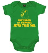 Dirty Fingers, The Force is strong with this one, Baby Boy, Bodysuit, 6-12m