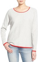 Velvet by Graham & Spencer Compact Stitch Cotton & Wool Pullover