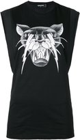 DSQUARED2 cat print tank top - women - Cotton - XS