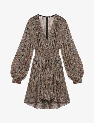 Maje Ranina crepe mini dress