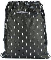 Neil Barrett embroidered lightning bolt backpack