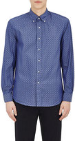 Barneys New York MEN'S PAISLEY COTTON CHAMBRAY SHIRT