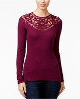 Jessica Simpson Adora Crochet-Trim Top