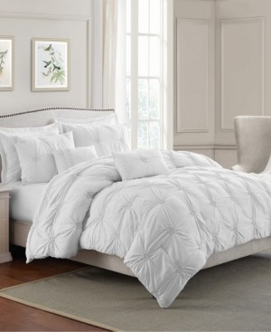 Cathay Home, Inc Floral Pintuck Twin/Twin Xl Comforter Set Bedding