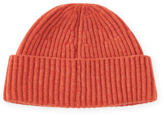 Brunello Cucinelli Men's Ribbed Cashmere Beanie Hat