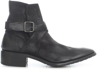Premiata Suede Ankle Boots W/side Buckle