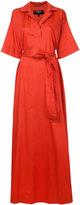 Paule Ka long woven wrap dress - women - Cotton - 36