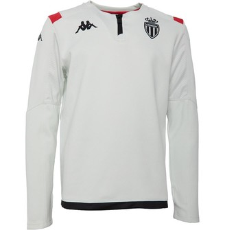 Kappa Junior Boys AS Monaco Ablas 3 1/4 Zip Training Top Creme