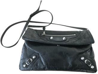 Balenciaga Classic Metalic Black Leather Clutch bags