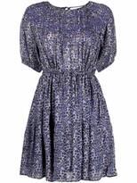 Thumbnail for your product : BA&SH Iris abstract-print mini dress