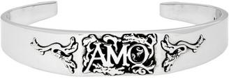 Alexander McQueen Silver Cuff Bracelet