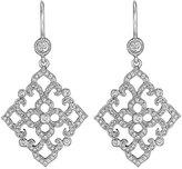Penny Preville 18k White Gold Lacy Diamond Drop Earrings