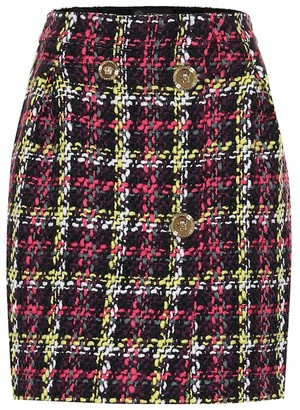Versace Checked tweed miniskirt