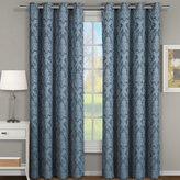 "eLuxurySupply Blair Jacquard Grommet Top Curtain Panel Pair (Set of 2) - 108"" x 63"""