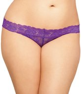 Seven Til Midnight SEVEN 'TIL MIDNIGHT Women's Plus-Size Queen Size Zoey Open Crotch Tanga