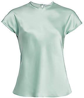Helmut Lang Women's Double Satin Cap-Sleeve Top