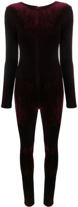 Alchemy Long-Sleeved Velvet Bodysuit
