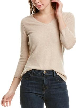 InCashmere Basic V-Neck Cashmere Sweater