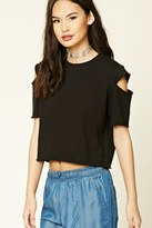 Forever 21 FOREVER 21+ Boxy Raw-Cut Top