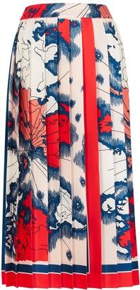 Victoria Victoria Beckham Printed satin skirt