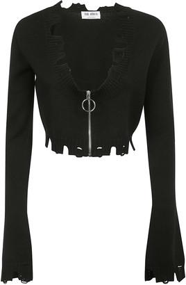ATTICO Long Flared Sleeve Zipped Cardigan