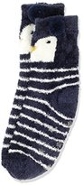 Fat Face Girl's Fluffy Penguin Socks,(Manufacturer Size: 13-3)