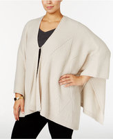 Alfani Plus Size Textured-Knit Poncho, Only at Macy's