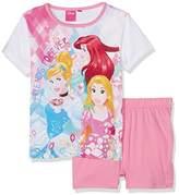 Disney Girl's Princesse QE2190 Pyjama Sets,(Manufacturer Size:4 Years)