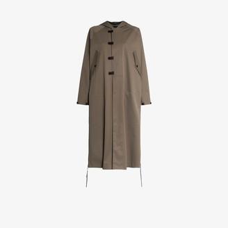 Hyke Hooded Asymmetrical Parka Coat