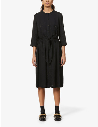 Sessun Polka dot-print jacquard midi dress