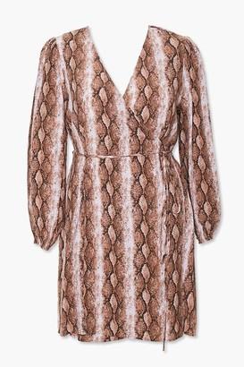 Forever 21 Plus Size Faux Snakeskin Wrap Dress