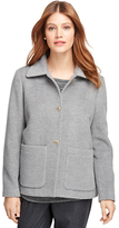Brooks Brothers Angora Wool Short Coat