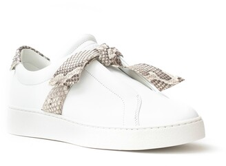 Alexandre Birman Clarita Jungle Genuine Python Bow Sneaker