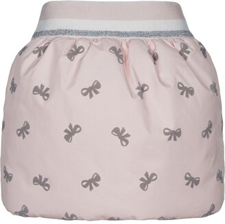 Lapin House Bow Print Puff Skirt