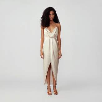 Fame & Partners Asymmetrical Drape Dress