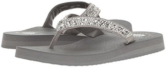 Yellow Box Orchid (Gray) Women's Sandals