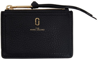 Marc Jacobs Black The Softshot Top Zip Card Holder