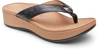 Vionic Platform Thong Sandals - Pilar Woven