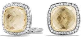 David Yurman Albion Earrings With Champagne Citrine, Diamonds And 18K