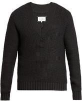 Maison Margiela V-neck wool-blend sweater