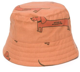 Tiny Cottons Sausage Dog Print Bucket Hat