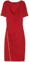 Joseph Zip-detailed wool-jersey dress
