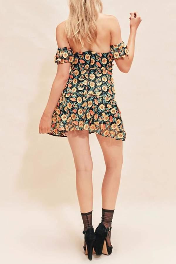 For Love & Lemons Amelia Strapless Dress