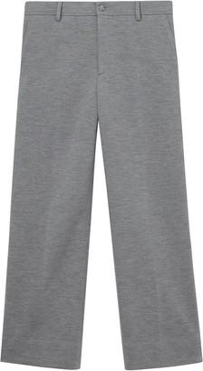 Burberry Wool Jersey Wide-Leg Trousers