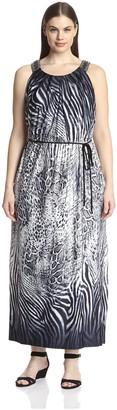 Sandra Darren Plus Women's Printed Maxi Dress
